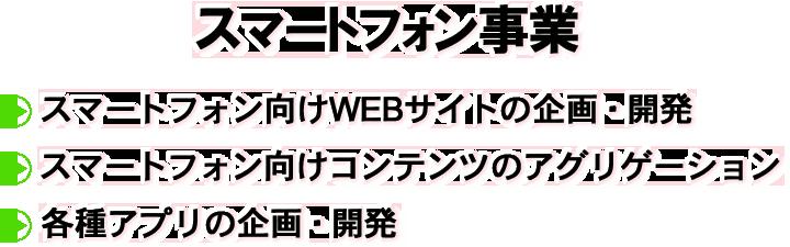 スマートフォン向けwebサイトの企画・開発